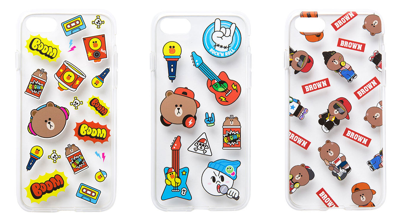 LINE Friends Beat BROWN Jelly iPhone Case 7 / 7 Plus Character Mobile Skin Cover