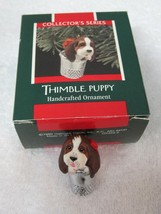 Hallmark Thimble Puppy 1989 #12 Last Series Original Box Price Tag Great Shape  - $18.32