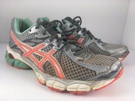 ASICS Gel Flux 2 Women US 8 Gray Peach + Silver Athletic Trainers Runnin... - $17.99