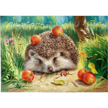 Paint By Number Kit Cute Hedgehog DIY Picture Artwork 40x50cm 16x20inch ... - $11.31
