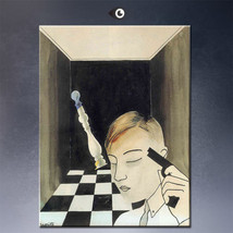 """Rene Magritte """"Checkmate 1926'"""" HD print on canvas large wall picture 36... - $29.69"""