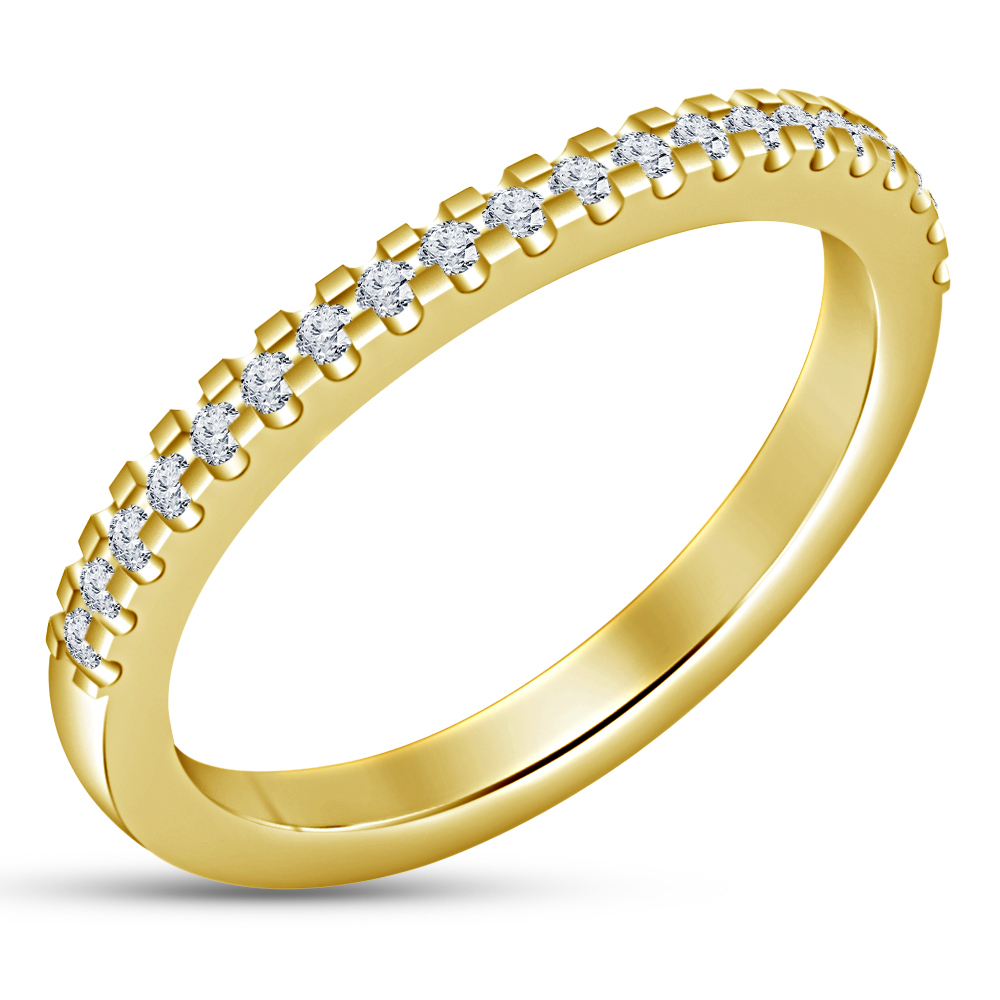 14K Gold Plated 925 Silver Cushion Cut White CZ 2Pcs Bridal Set Anniversary Ring