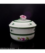 Herend Porcelain Bowl with Rose Lid, Vienna Rose Pattern - $195.00