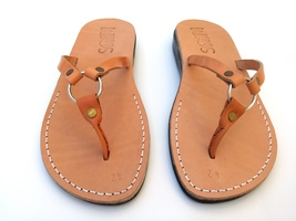 Leather Sandals for Women SATURN by SANDALIM Biblical Greek Roman Sandals - $39.83 CAD+