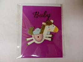 Handmade  Unisex Baby blank greeting card in the color purple - $3.00