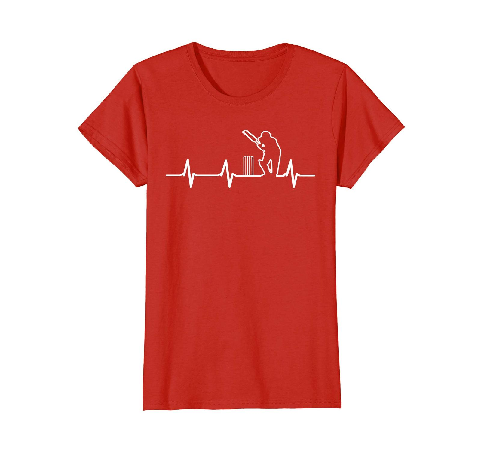 Funny Tee -  Cricket Coolest T shirt | Cricket In My Heartbeat Wowen