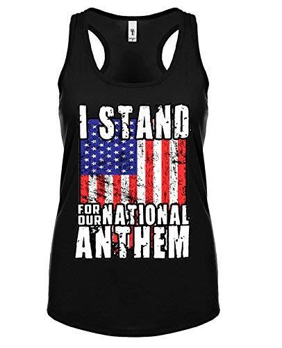 Primary image for 12.99 Prime Tees Womens I Stand For The National Anthem Racerback Tank Top Large