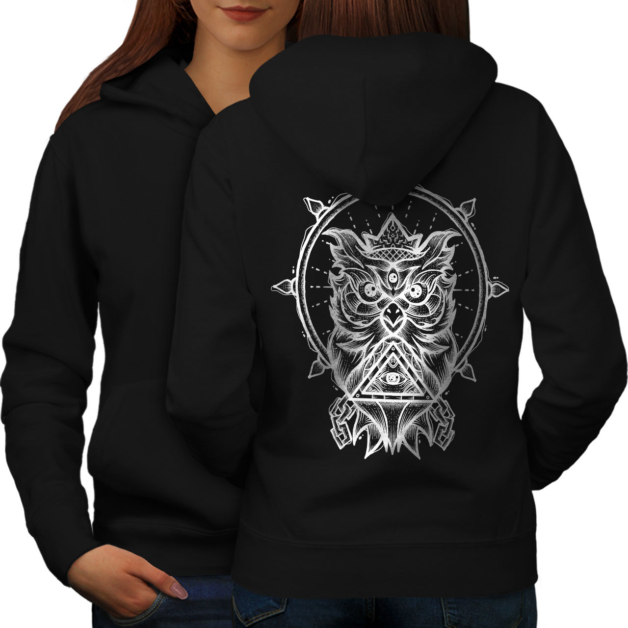 Primary image for Owl Spiritual Fashion Sweatshirt Hoody  Women Hoodie Back
