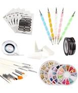 ECBASKET Nail Art Tools Set,5 Nail Stencil Stickers,5 Rhinestones Decora... - $35.35