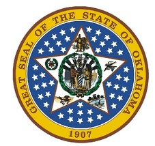 Oklahoma State Seal Sticker MADE IN THE USA R553 - $1.45+