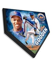"Dwight Gooden New York Mets  -11.5"" x 11.5"" Home Plate Plaque  - $40.95"