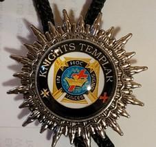 Knights Templar Bolo Necklace Tie - In Hoc Signo Vinces Cross in Crown image 1