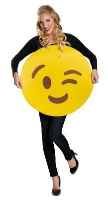 Emoticon Emoji Wink Face Costume Adult Halloween Party Unique Funny DG85325