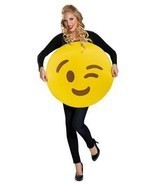 Emoticon Emoji Wink Face Costume Adult Halloween Party Unique Funny DG85325 - $936,99 MXN