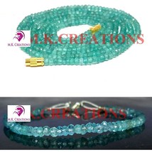 """Natural Apatite 3-4mm Faceted Beads Beaded 34"""" Necklace 7"""" Bracelet Jewelry Set - $30.12"""