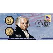 2007 John Adams First Day Cover - Coins & Stamp Set - Unopened - $7.95