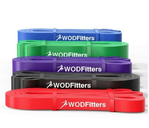 WODFitters Pull Up Assistance Bands - Stretch Resistance - Mobility Band - 5 pcs