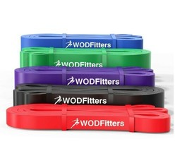 WODFitters Pull Up Assistance Bands - Stretch Resistance - Mobility Band - 5 pcs image 1