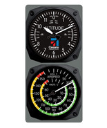 TRINTEC Cessna Altimeter Clock Airspeed Indicator Thermometer Console Se... - $64.35