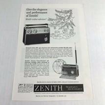 1960 Vintage Print Ad Zenith Transistor Radio Advertising Art  - $9.89