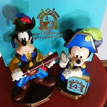 Tokyo Disey sea 2005 4th anniversary Mickey & Goofy Head swing doll figure  - $147.51