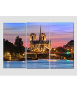 The Notre Dame Cathedral in Paris Canvas Art France Wall Art Catholic Fr... - $49.00