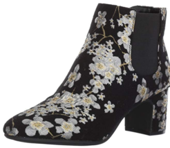 Anne Klein Gorgia Size 7.5 M (B) EU 38 Women's Fabric Ankle Boots Black / Multi - $30.57