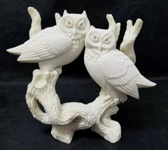 Coralei Country Cousins Owl Sculpture: Handcrafted Cultured Coral Hawaii... - $29.02
