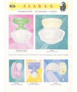 Deco Lighting Alabax Porcelain Lights Fixtures Utilitarian 1930 Light Ca... - $24.99