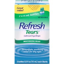 Refresh Lubricant Eye Drops Value Size Refresh Tears, 0.5 Oz bottles, 2 ... - $19.54
