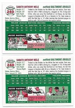 1954 Topps Archives Baltimore Orioles Sam Mele #240 Gold & Regular 2Cards image 2