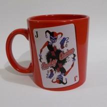 Harley Quinn Oversized Mug DC Comics Playing Card Red Coffee Cup - $19.79