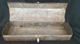 """Vintage Craftsman Tool Box Divided Socket Wrench Metal  20"""" long Empty Case - $33.85"""