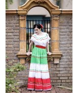 Womens One Size Fits Most Top & Skirt Dress Mexican Folkloric Fiesta Dan... - $55.17
