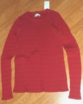 LIZ CLAIBORNE NEW YORK SWEATER SIZE PS RED NWT - $15.99