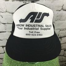 Arrow Industrial Sales Trucker Hat Black White Mesh SnapBack Vintage - $14.84