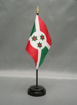 "BURUNDI 4X6"" TABLE TOP FLAG W/ BASE NEW DESK TOP HANDHELD STICK FLAG - $4.95"