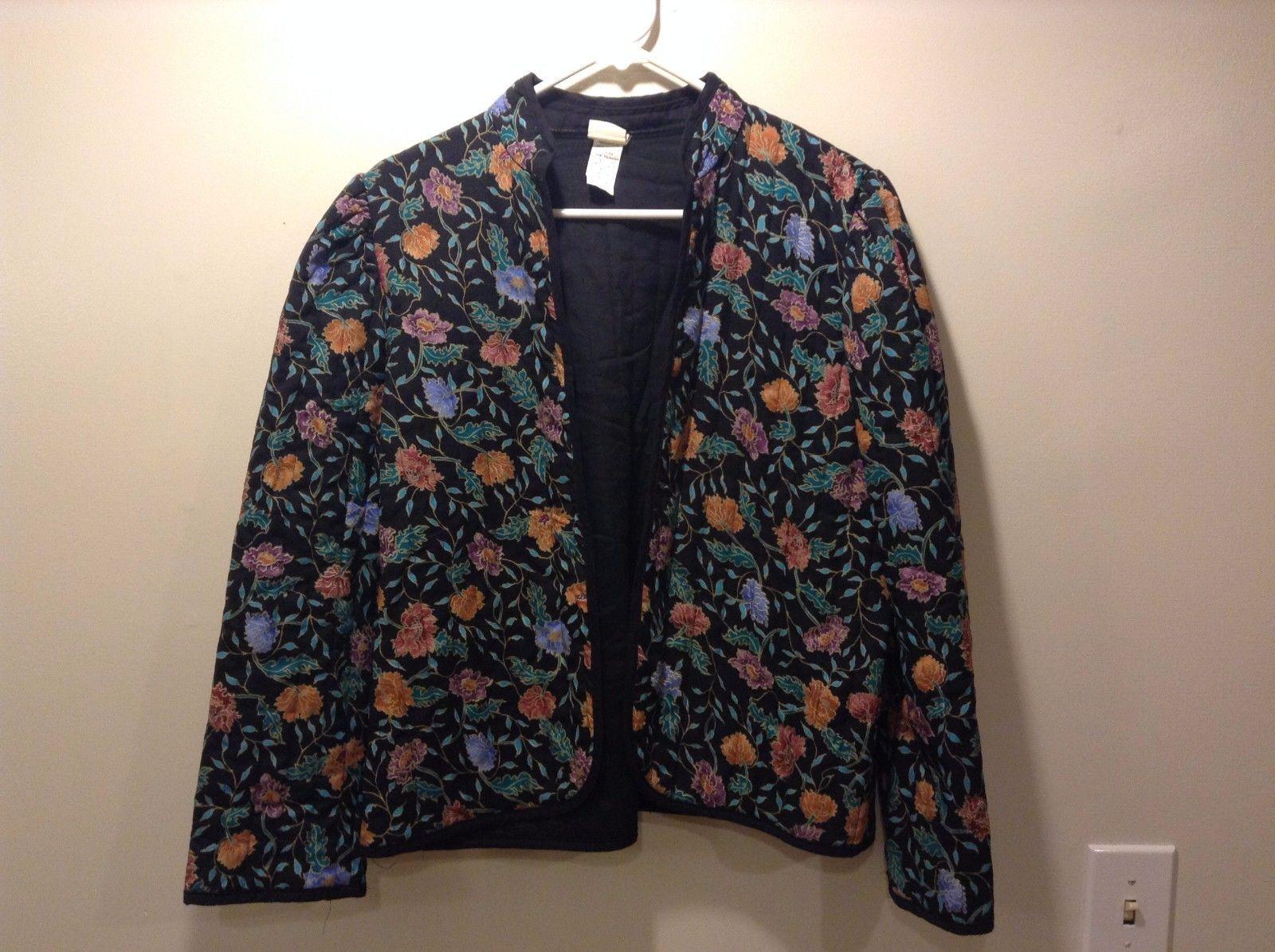 Montgomery Ward Classic Oriental Jacket w Floral Design Sz M