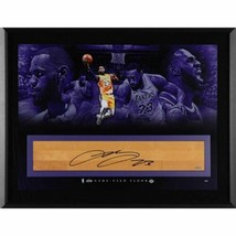 LeBron James LA Lakers Signed 36x24 Game Used Floor It's Time Photo LE t... - £3,778.26 GBP