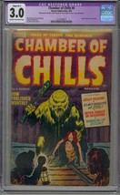 CHAMBER OF CHILLS #6 CGC 3.0 PRE CODE GOLDEN AGE HORROR - $106.42