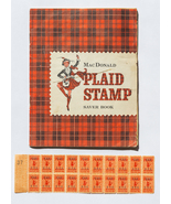 MacDonald Plaid Stamp Saver Book, used, 1960s - $5.00