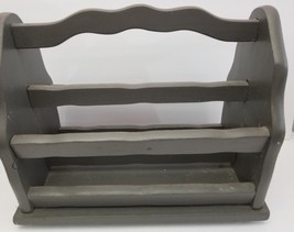 "VINTAGE WOOD MAGAZINE RACK/HOLDER * HEAVY DUTY, STURDY, DURABLE * 17"" x ... - $37.99"