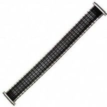 16-19mm Extra Long Black Silver Romunda Expansion Watch Band CHOOSE YOUR SIZE! - $24.99