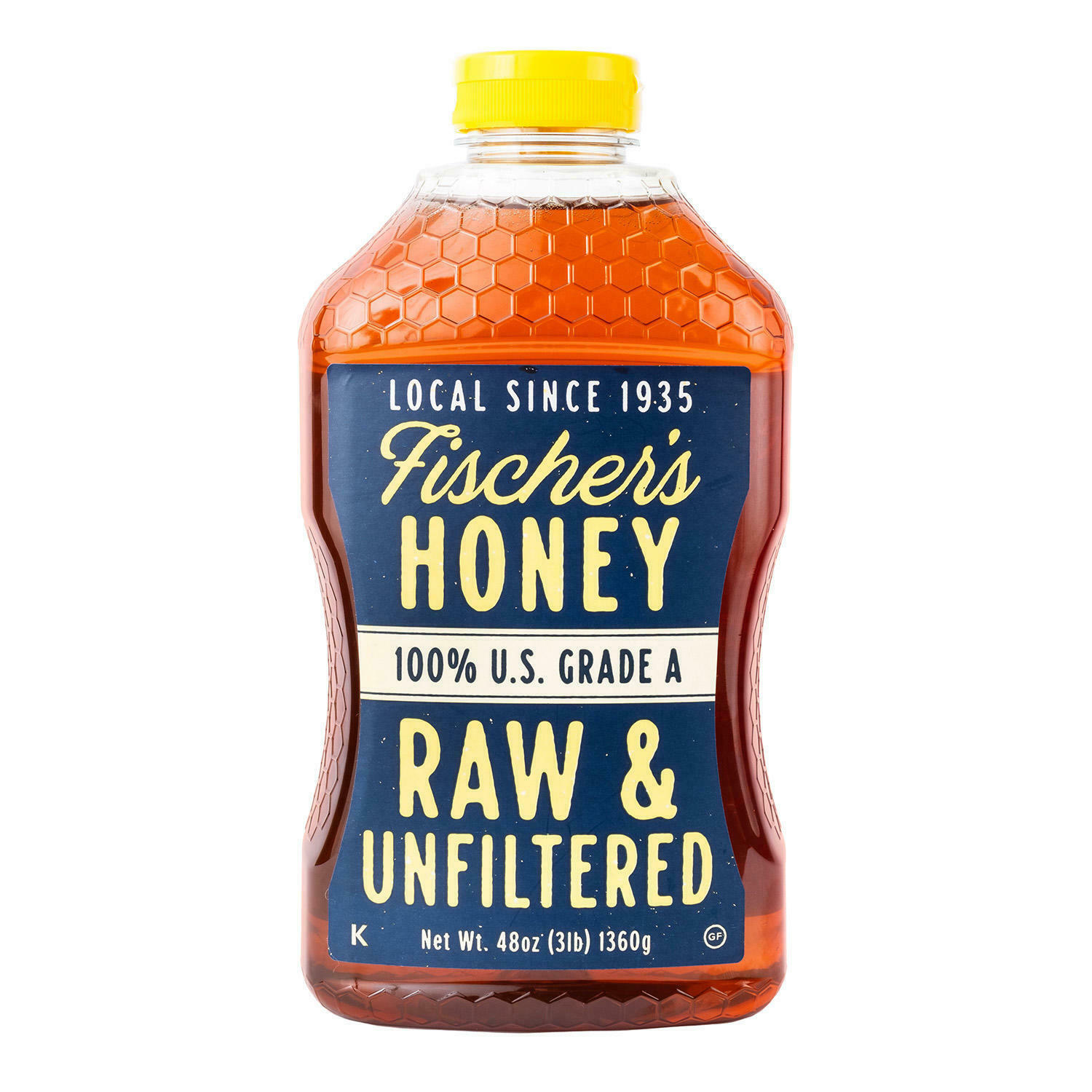 Primary image for Fischer's Honey Raw and Unfiltered, Pure Honey Raw Honey 48 Oz Bottle
