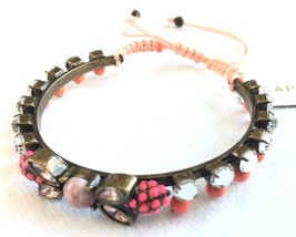 Capwell + Co. On The Bright Side Crystal Beaded Adjustable Bracelet NWT image 2