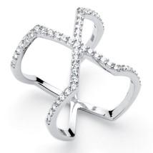 PalmBeach Jewelry .38 TCW Cubic Zirconia Platinum over .925 Silver Cockt... - $12.76