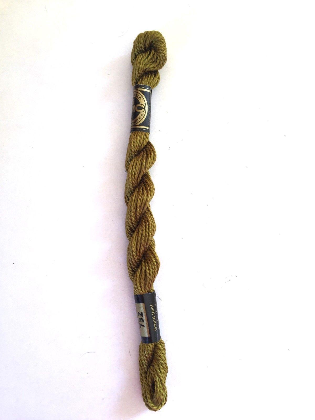 DMC Pearl Cotton #3 #732 15 M Skein Coton Perle Needlepoint Thread Article 115 - $1.79