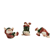 1989 Fitz and Floyd Old World Tumbling Christmas Elves 3 Porcelain Figur... - $45.00