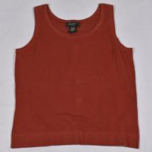 Womens Eddie Bauer Rust Orange Knit Tank Top Medium - $12.73