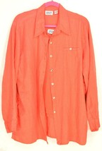 Chico's top lot vintage shirt oversize L 100% linen boyfriend long sleev... - $29.69